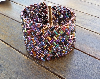 Rainbow herringbone rula bracelet