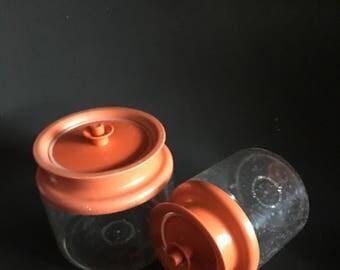 Vintage Tupperware Acrylic Cannister set MCM