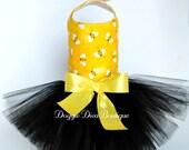 Sample Sale - Dog Dress, Dog Tutu Dress, Bumblebee Bee Tutu Dress, XXS, XS, Small or Medium