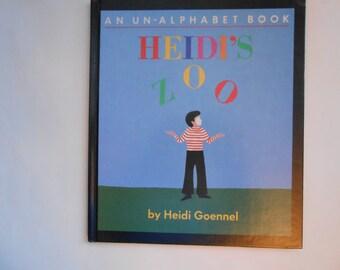 Heidi's Zoo, An Un-Alphabet Book, a Vintage Children's ABC Book by Heidi Goennel.