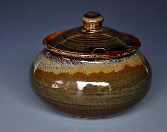 Ceramic Sugar Bowl Stoneware Pottery Jar Handmade Jar A