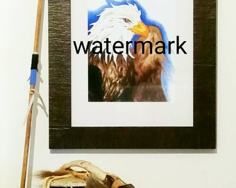 Art Print-Copy of Original Artwork (Eagle) Gift Idea-Print Painting-Wall Art-Picture- Drawing-Poster-Painted- American Indian-Cabin Art