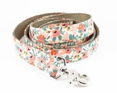 Les Fleurs Rosa Floral Peach Dog Leash - Rifle Paper Co.