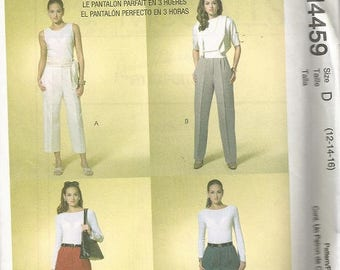 McCall's 4459 Palmer Pletsch Classic Fit Pants Pattern SZ 12-16