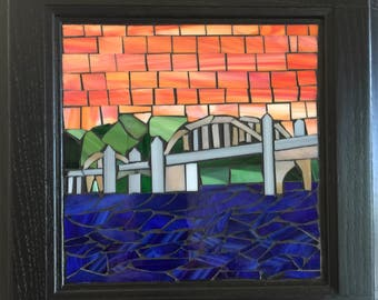 Stained Glass Mosaic - Siuslaw River Bridge in Florence, Oregon