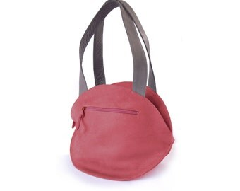 RED Vegan Leather Tote, red leather shoulder bag,  convertible backpack, women's handbags, red leather purse, backpack purse in red, red bag