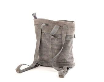 Leather Backpack, Purse Backpack, Messenger Bag, Brown Rucksack, Women's Purse, Student Purse, Leather Tote Bag, Brown Bookbag