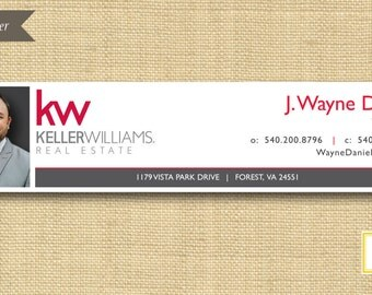 Digital File  |  Custom Email Signature Banner |  Classic  |  Any Color Any Company