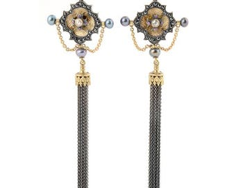 Medieval Tassel earrings