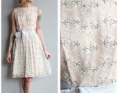 25% OFF SALE // 1960s Dress // Jack Bryan Beaded Lace Cocktail Dress // vintage 60s party dress