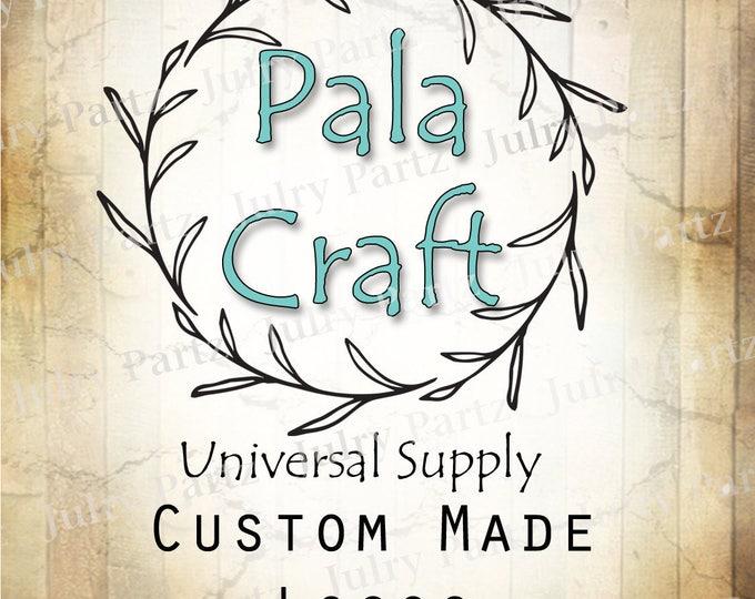 LOGO in Pala•Premade Logo•Jewelry Card Logo•Flower Logo•Custom Logo•Shop Logo