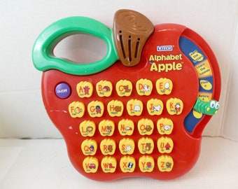 v-tech alphabet apple vintage kid's electronic, educational