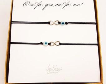 Infinity bracelet set - Silver 925 infinity - Gift set - Special
