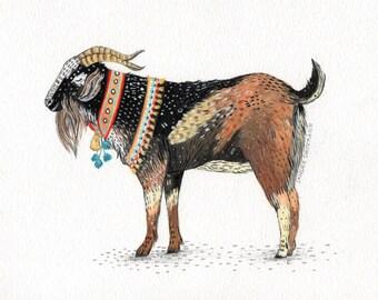 Goat  // Signed A4 print