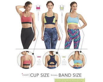 Simplicity Sewing Pattern 8339 / D0644 A Misses' Knit Sports Bras New UNCUT