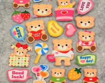 Mixed Cutie Love Bear Stickers