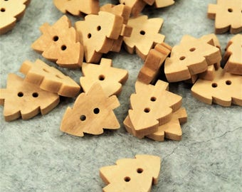Assorted Wooden Button - 50/200pcs