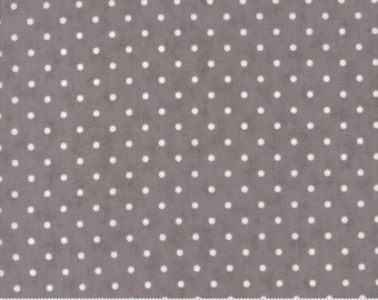 Poetry - Dots in Charcoal by 3 Sisters for Moda Fabrics
