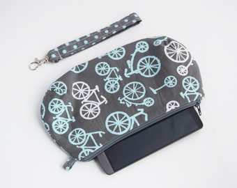 Wristlet with Strap, Smartphone Clutch, Gift for Her, Zookaboo, Handmade, Ready to Ship