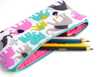 Pencil Holder - Birthday Gift for Girls - Fabric Pencil Case - Pencil Pouch Organizer - Pen Case - Zipper Pouch - Back to School Supplies -