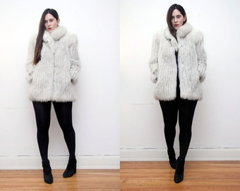 Vintage fox fur Real Artic Fox Saga AMAZING Fur jacket Coat