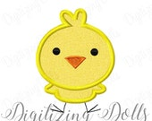 Chick Applique 2 Machine Embroidery Design Digital File 4x4 5x7 Baby Easter Bird INSTANT DOWNLOAD
