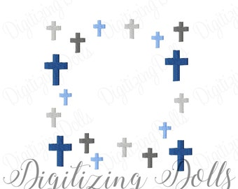 Cross Frame Machine Embroidery Designs 3x3 4x4 5x5 6x6 Alphabet religious church INSTANT DOWNLOAD