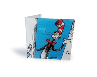 DR SEUSS The Cat in the Hat Wallet - Recycled Book Page in Vinyl