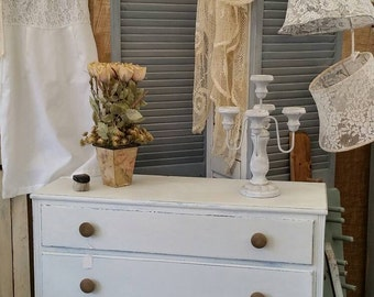 Chippy White Farmhouse  Dresser/Chest of Drawers