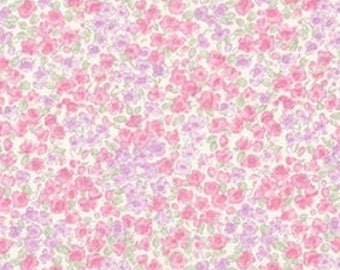 Robert Kaufman - Sevenberry Petite Garden Pink Lavender Small Florals Japanese Cotton Fabric SB-6115D2-1 PINK - choose your cut