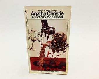 Vintage Mystery Book A Holiday For Murder by Agatha Christie 1980 Paperback