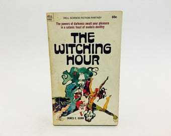 Vintage Occult Fiction Book The Witching Hour by James E. Gunn 1970 Paperback