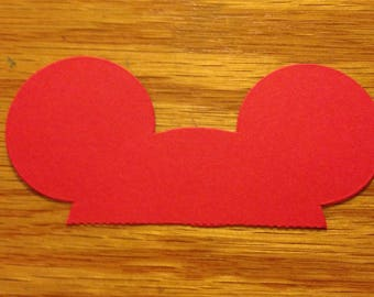 10 Mickey Mouse Ears Die Cuts Any Colors