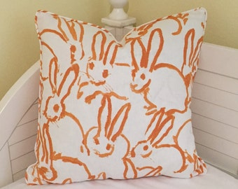 Groundworks Bunny Hutch Designer Pillow Cover with Piping - Square, Lumbar and Euro Sizes