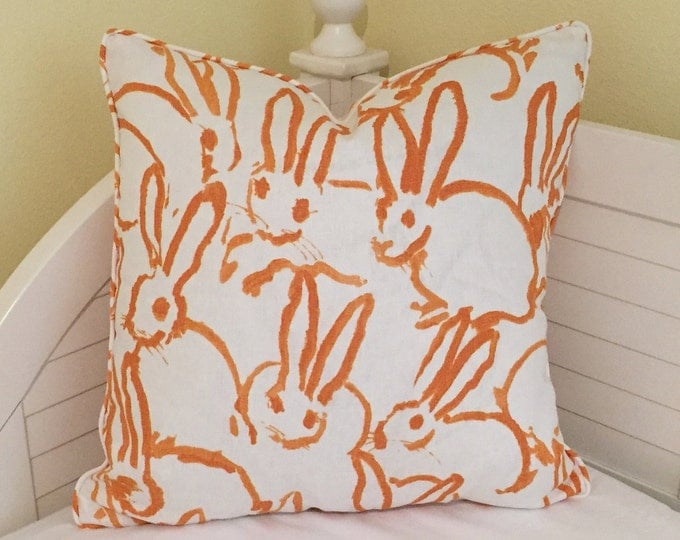 Groundworks Bunny Hutch  on Both Sides Designer Pillow Cover with Choice of Piping - Square, Lumbar and Euro Sizes