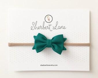 Mini Standard Bow - Emerald Green