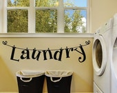 40% OFF SALE Laundry Room Wall Decals - Laundry Room Decals - Laundry Room Wall Decor - Laundry Wall Decals - Laundry Signs - Laundry Room S