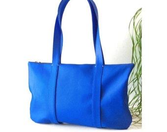 Cobalt blue boho leather purse, vegan leather bag, vegan mom bohemian chic, royal blue boho shoulder bag, bohemian handbags, sustainable