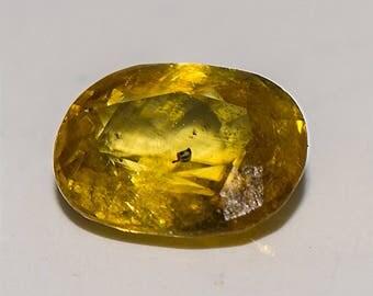 SPHENE TITANITE (33758) * * * Golden Yellow / Green 5 x 7.8mm Sphene Titanite with Sparkle - Faceted