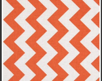 Orange chevron fabric 3/4 yard