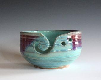 Large Yarn Bowl, knitting bowl, handmade ceramic yarn bowl, gift for knitters, ceramics, READY TO SHIP