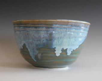 Pottery Bowl, Ceramic Bowl, Pottery Serving Bowl, Pottery, Wheel Thrown Bowl, Handmade Ceramic Bowl, ceramic pottery bowl, stoneware bowl