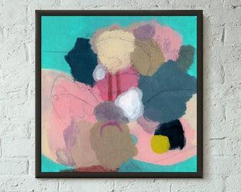Don't Stop No. 9 of 9 // Modern Abstract Art Original 8x8 Mixed Media Acrylic Painting on Canvas Panel, Free US Shipping, Lisa Barbero