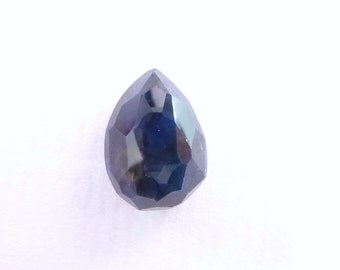 Pear Blue SAPPHIRE. 100% Natural. Blue Unheated / Untreated. Pear Shaped Rose Cut. Can Be Drilled. Geometric. 10.21 cts. 14x10 x7 mm (S2008)