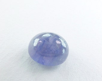 Blue SAPPHIRE Medium Blue. High Dome Oval. Smooth and Glossy Cabochon. Great Ringstone. 1 pc. 7.44 cts. 11x9x7 mm (S2084)