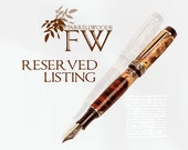 Reserved for Caroline Glow in the Dark Hand Crafted Sleek Chrome Rollerball Pen - FREE ENGRAVING