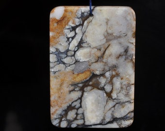 34x50x4mm Awesome~Multi-colored PIETERSITE X-Large Rectangle Focal Pendant - R1081