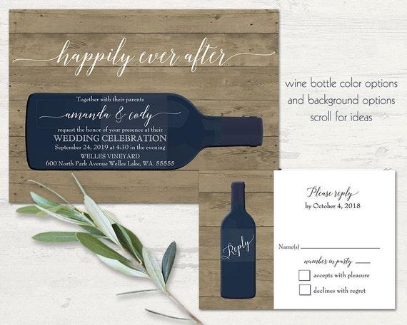 Vineyard Wedding Invitations Rustic Wine Country Wedding Color – Wine Country Wedding Invitations