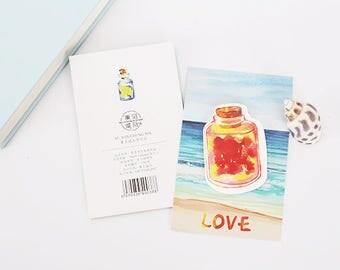 Cute Drift Bottle Sticky Notes - Stick Note Notepad Mini Notepad Post It
