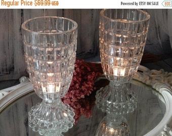 60% OFF Large One Of a Kind ~ UPCYCLED Antique Crystal Lamp~antique Candle Holder ~ Large Candle HURRICANE ~Sconce ~ Holder Vase